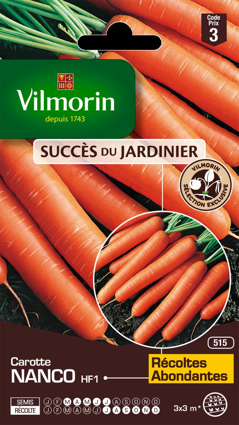 carotte nanco hybride f1 vilmorin graine semence potager sachet semis - Voir en grand