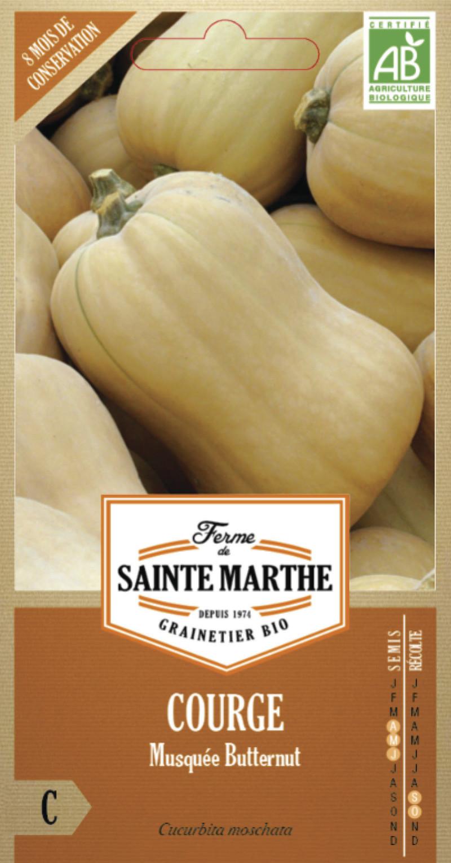 courge musquee butternut bio ferme de sainte marthe graine semence potager sachet semis - Voir en grand