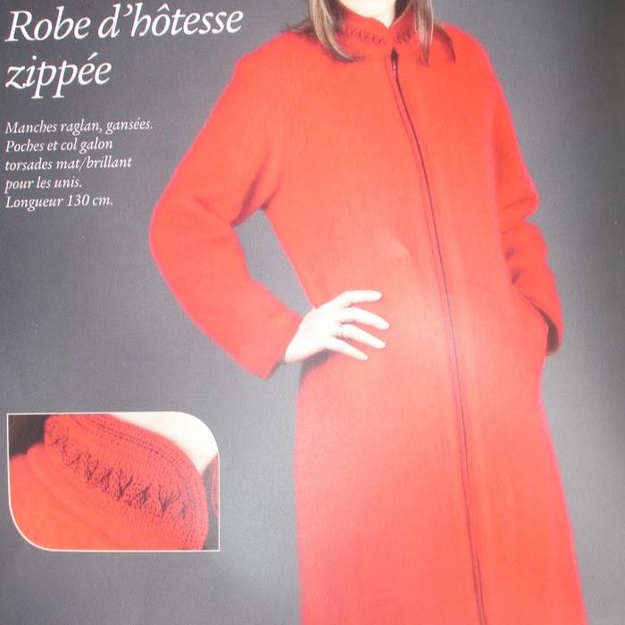 Robe d'hôtesse zippée VAL D'ARIZES - Voir en grand