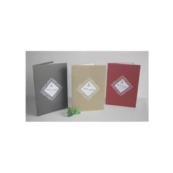 3 Faire-part mariage, papier Irisé, cadre triangulaire  ajouré, amalgame print grenoble - Voir en grand