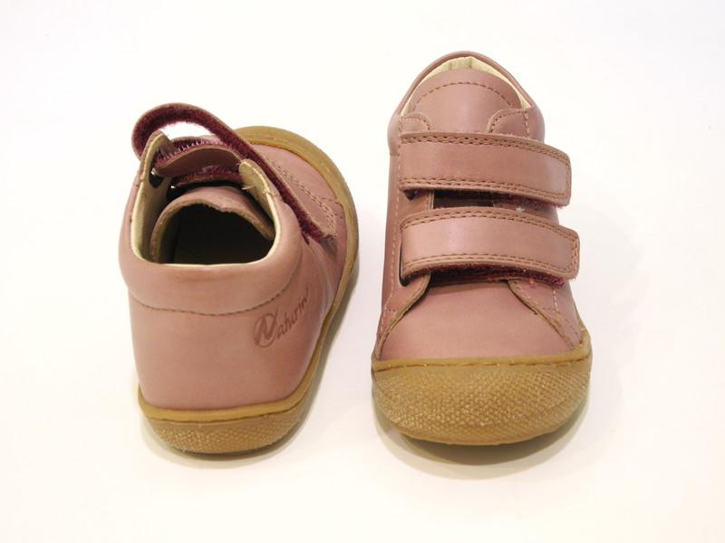 Chaussure bébé montante rose - Voir en grand