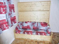 lit relevable ou lit armoire avec banquette rangement  21 - lit relevable,lit armoire - VERCORS LITERIE  - Voir en grand