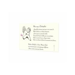 Petit Ange qui sommeil, carte remerciements deces, condoléances, amalgame imprimeur Grenoble - Voir en grand