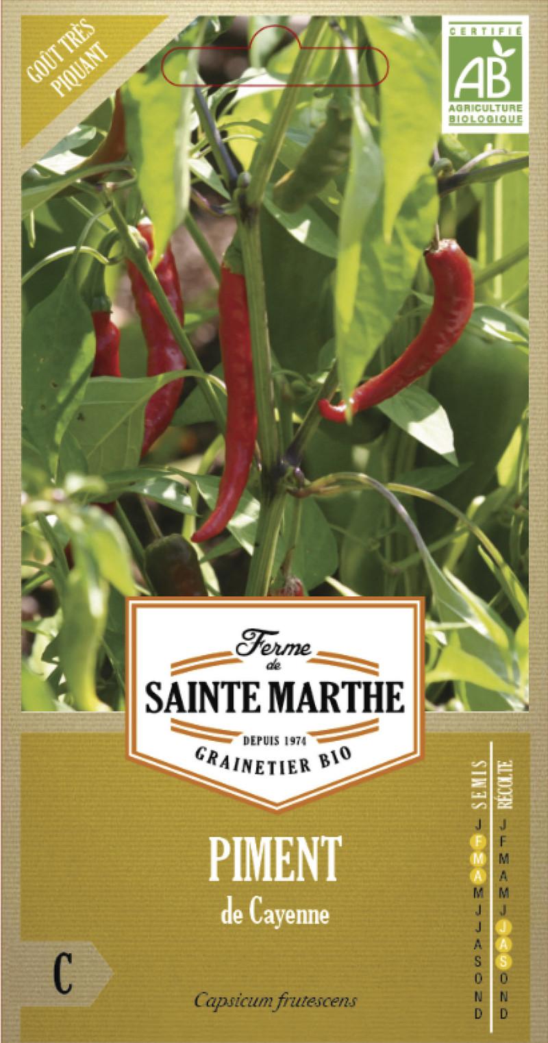piment de cayenne bio la ferme de sainte marthe graine semence potager sachet semis - Voir en grand