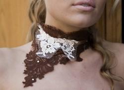 Collier Chocolat - Voir en grand