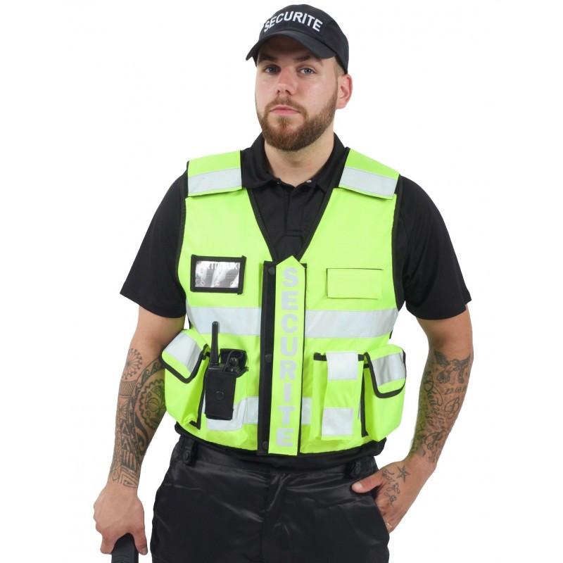 VESTE SECURITE NOIR MULTI-Poches