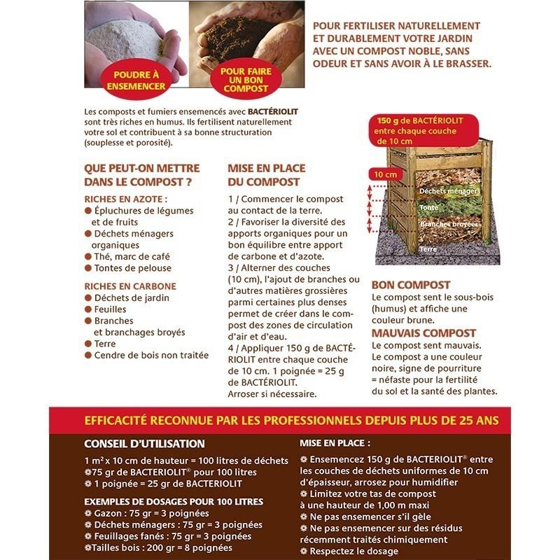 bacteriolit activateur de compost sobac bacteriosol compostage agriculture biologique - Voir en grand