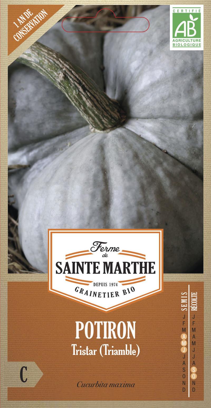 potiron tristar triamble bio ferme de sainte marthe graine semence potager sachet semis - Voir en grand