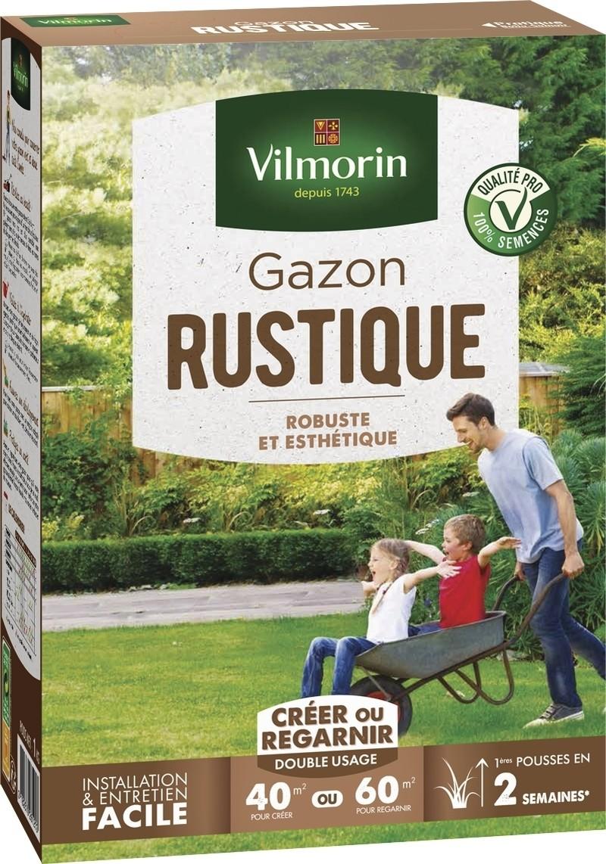 gazon rustique vilmorin pelouse graine semence boite - Voir en grand