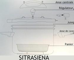 Pièces détachées cocotte Sitrasiena Sitram - Voir en grand