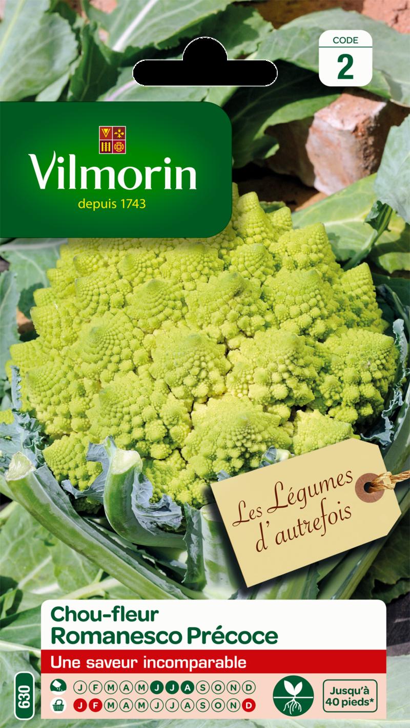 chou fleur romanesco precoce vilmorin graine semence potager sachet semis - Voir en grand