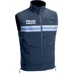 gilet sans manches police municipale toe concept one softshell pm