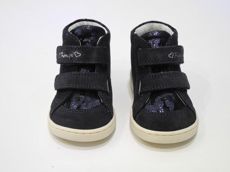 Chaussure cuir marine - Voir en grand