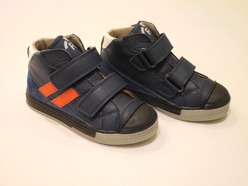 Chaussures enfnat garçon velcros marine - Voir en grand