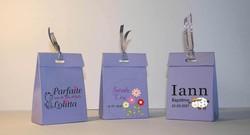 boite à dragee violette, couleur violine, baptême, communion, personnalisée Grenoble - Voir en grand
