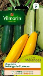 courgette mélange de couleurs vilmorin graine semence potager semis sachet - Voir en grand