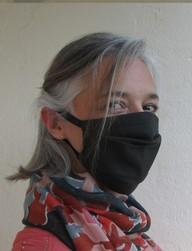 Masque barrière à plis attache derrière oreilles