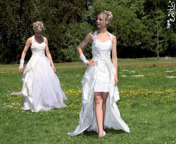 Robe de mariée modulable Onctueuse  Grenoble - Robes de mariée avec son serre taille - Création Signé Edith  - Voir en grand