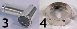 N°3 Corps - N°4 écrou pièces détachées Kenwood  hachoir AT261 Prospero KM262 - KM266 - Voir en grand