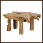TABLE BASSE TECK - MOBILIER  - AUTHENTISSIMA - Voir en grand