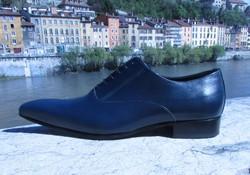 chaussure-bleu-pour-homme-mariage-signe-edith - Voir en grand