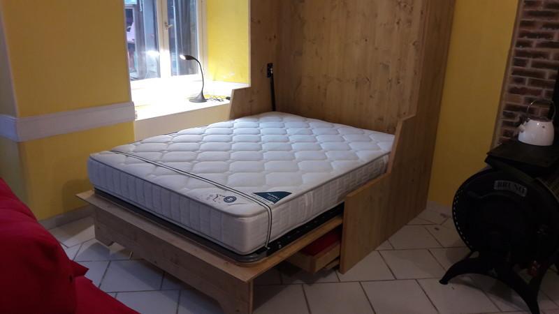 lit relevable avec banquette en 140x190 no 16 vercors literie. Black Bedroom Furniture Sets. Home Design Ideas
