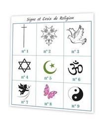 croix de religion, Branche olivier symbole et croyance, amalgame imprimeur grenoble