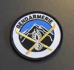 écusson gendarmerie de haute montagne en tissu avec broderie attribut de bras - Voir en grand