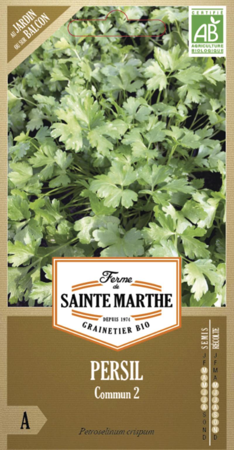 persil commun 2 bio la ferme de sainte marthe graine semence aromatique sachet semis - Voir en grand
