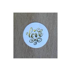timbre scellage Love stylisée, à cacheter joliment enveloppe boite dragée, amalgame print grenoble