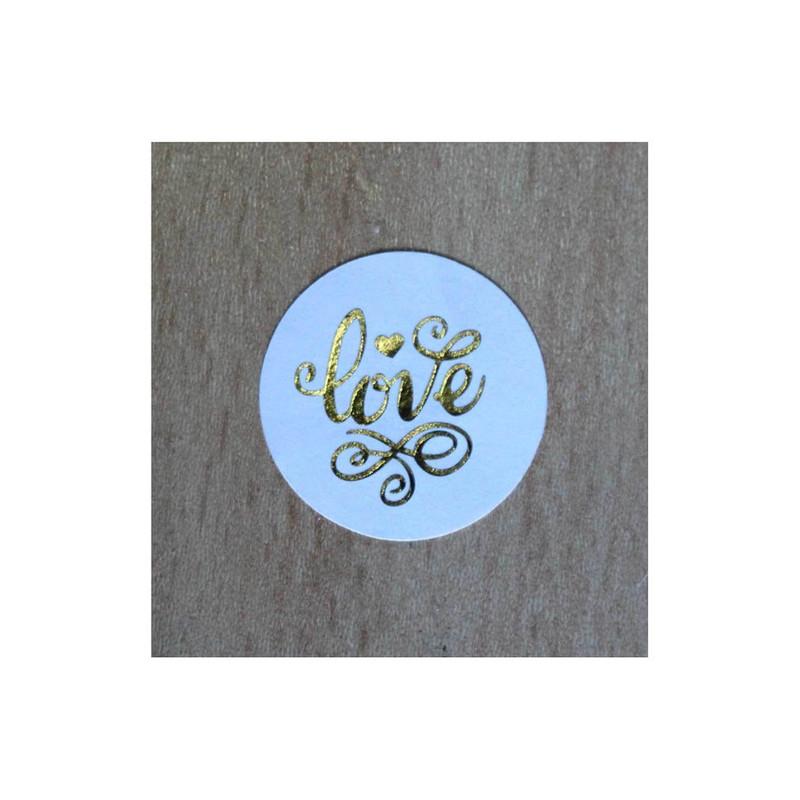 timbre scellage Love stylisée, à cacheter joliment enveloppe boite dragée, amalgame print grenoble - Voir en grand