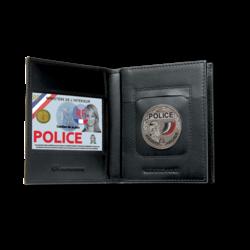 porte carte 4281 gk 3 volets emplacement médaille carte pro carte vitale police gendarmerie securite