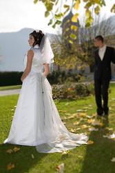 Robe de mariée scintille version cérémonie dos - Voir en grand