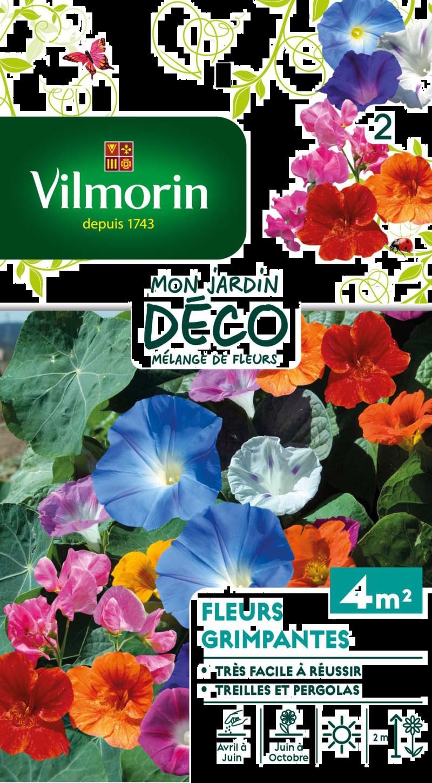 melange fleurs grimpantes mon jardin deco vilmorin graine semence melange massif - Voir en grand
