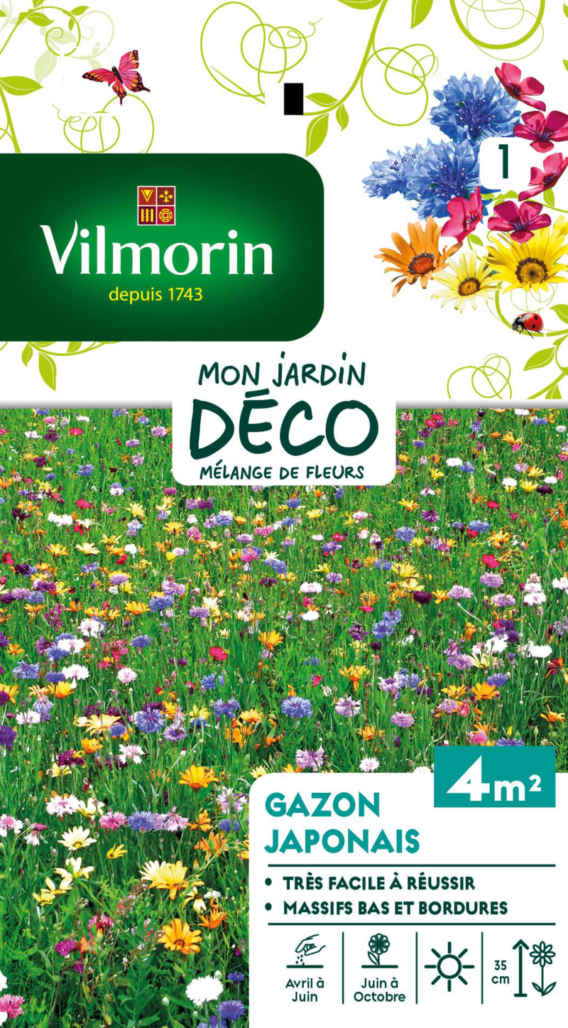 melange fleurs pour gazon japonais mon jardin deco vilmorin graine semence melange massif - Voir en grand