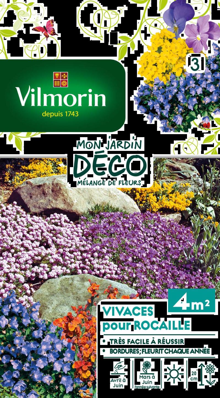 melange fleurs vivaces pour rocaille mon jardin deco vilmorin graine semence melange massif - Voir en grand