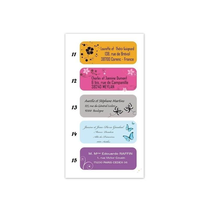 etiquette adhésive ballotin, 15 design, amalgame imprimeur graveur grenoble - Voir en grand