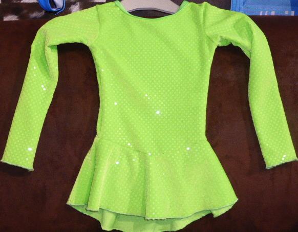 Tunique de Patinage sur Glace Elite Xpression Ref 46TE11 - ARTISTIQUE - GREEN et GLACE Patinage et sportwear - Voir en grand