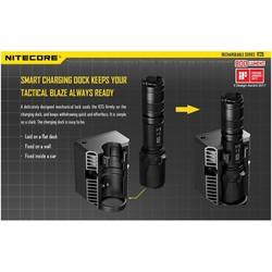 lampe nitecore r25 rechargeable avec socle de chargement accu torche performante 800 lumens bouton t - Voir en grand