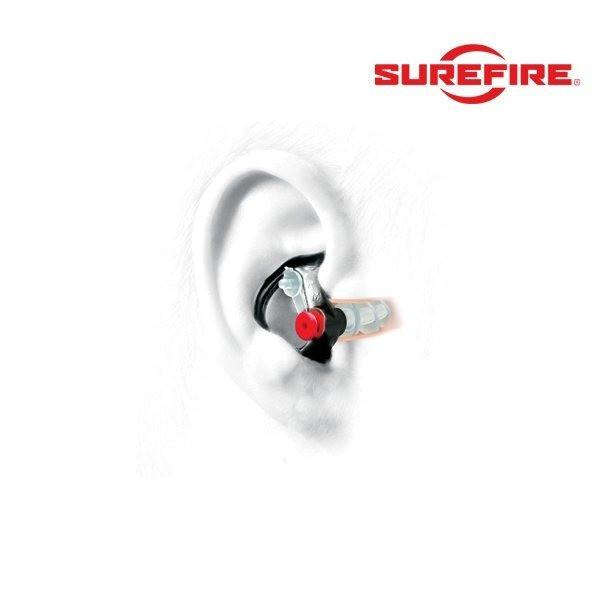 bouchons anti-bruit ep4 sonic defender plus surefire protection auditive compatible avec des radios - Voir en grand