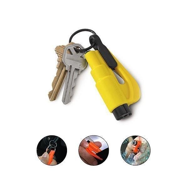brise vitre coupe ceinture resqme compact efficace en cas d'accident pour secourir porte clef - Voir en grand