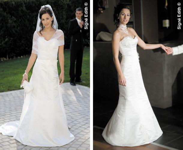 Robe de mariée modulable CLASSEBELLE grenoble - Robes de mariée avec son serre taille - Création Signé Edith  - Voir en grand