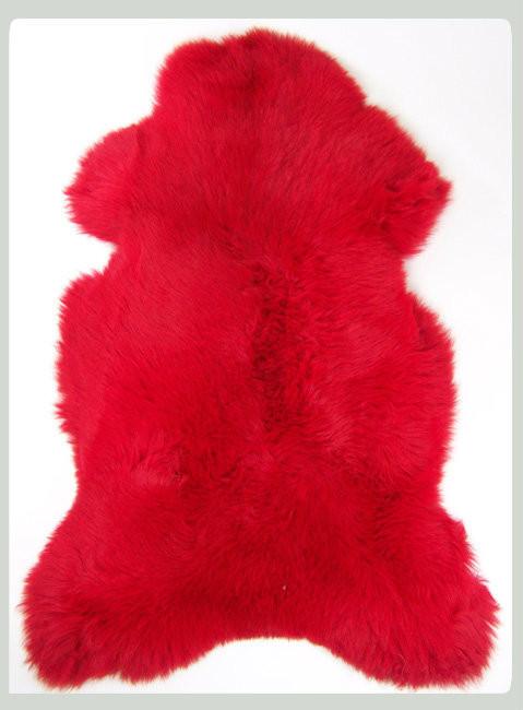 peau de mouton rouge la petite boutique