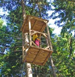 Parcours 6-8 ans,parcours aventure ,accrobranche enfants -  - INDIAN FOREST CHARTREUSE