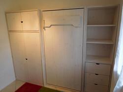 lit relevable vertical en 90x190 avec armoires - Lit relevable, lit armoire - VERCORS LITERIE  - Voir en grand