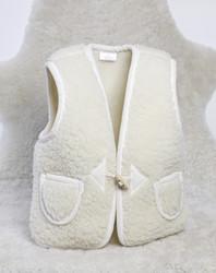Gilet bébé sans manches en laine - Gigoteuses, peaux d'agneau et gilets enfants - La Petite Boutique - Voir en grand
