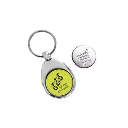 Porte-cles Métal argent, cadeau logo couleur, amalgame graveur Grenoble