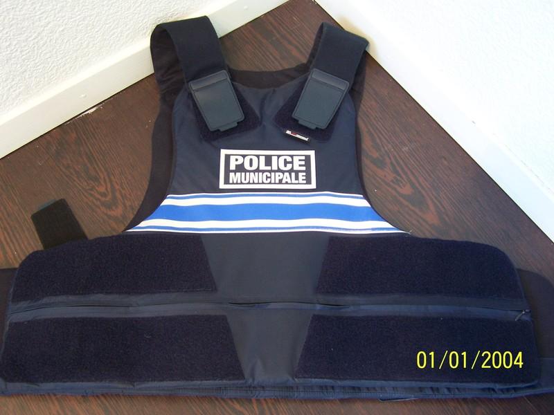 gilet pare balles gk protection classe 3a occasion peu portée police municipale 3 bandes gitane - Voir en grand