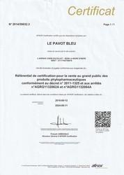 Certification AFNOR Le Pavot Bleu