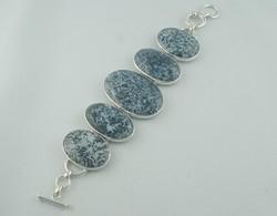 Bracelet agate arborisée dendritique  - les bracelets - ATELIER LE BERY'L - Voir en grand